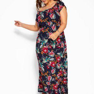 new Floral Off The Shoulder Maxi Dress 1XL